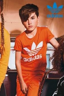 adidas Originals Orange Trefoil Tee