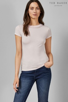 Ted Baker Pink Neck Detail Top