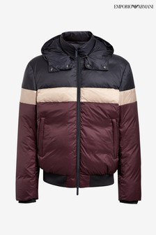 Emporio Armani Blue/Burgundy Padded Jacket