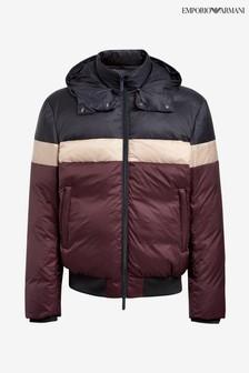 Emporio Armani Blue/Burgundy Padded Jacket