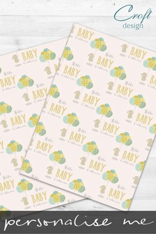 2 Pack Personalised Baby Bunny Wrap by Croft Designs