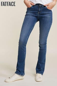FatFace Blue Clean Blue Boot Cut Jeans