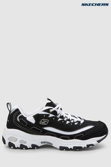 Skechers® Black/White D'Lite Biggest Fan Trainer