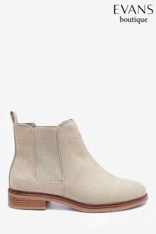 Evans Curve Neutral Chelsea Boots