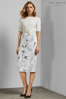 Ted Baker Ivory Kinnya Fortune Belted Bodycon Dress