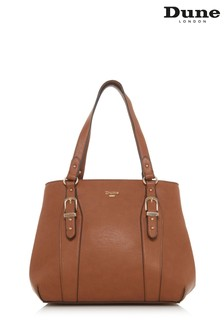Dune Accessories Tan Medium Buckle Detail Tote 8514f937025d8