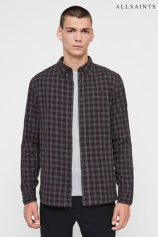 AllSaints Charcoal Traxler Check Shirt