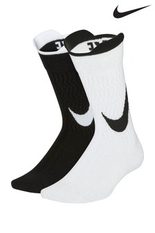 Nike Swoosh Black/White Socks Two Pack