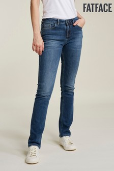 FatFace Blue Clean Blue Slim Straight Jean