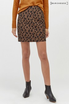 Warehouse Animal Jacquard Pelmet Skirt