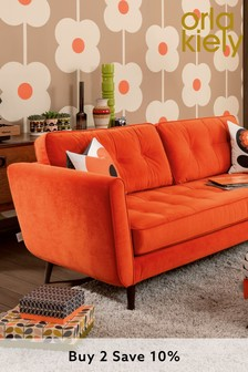 Orla Kiely Ivy Large Sofa with Oak Feet