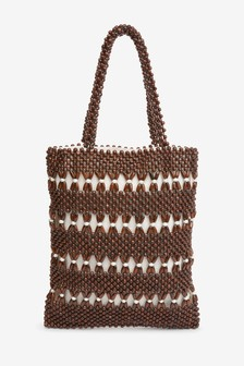 Wooden Beaded Shopper