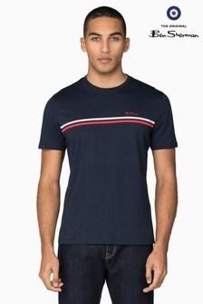 Ben Sherman Navy Sport Tipped Chest T-Shirt