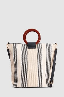 Ring Handle Bucket Bag