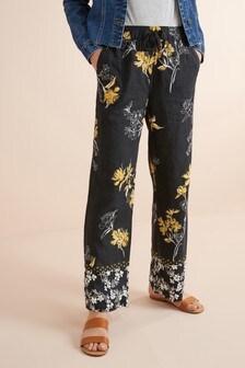 f15ec61d525 Linen Blend Wide Leg Trousers