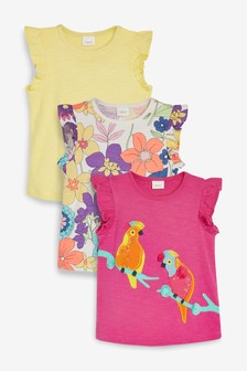 Cockatoo Vests Three Pack (3mths-7yrs)