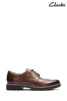 Clarks Tan Batcombe Wing Shoes