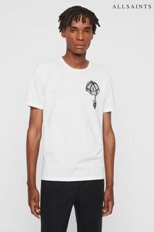 AllSaints White Chained Logo T-Shirt