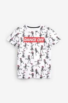 Christmas All Over Print Skeleton T-Shirt (3-16yrs)