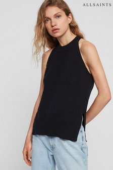 AllSaints Black Knitted Haliki Vest