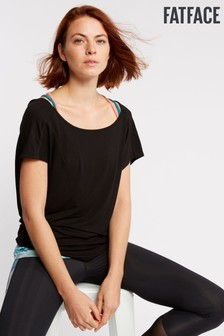 FatFace Black Maggie 2-In-1 Top