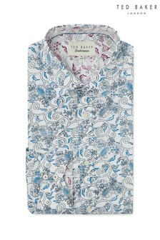 Ted Baker Blue Feather Print Shirt