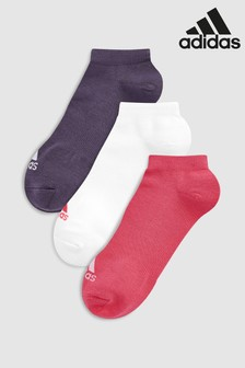 adidas Adults Pink/White/Purple Ankle Socks 3 Pack