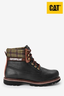 CAT® Black Colorado Plaid Lace-Up Boots