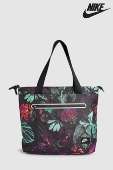 Nike Black/Green Floral Tote