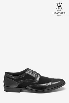 High Shine Suede Mix Brogue