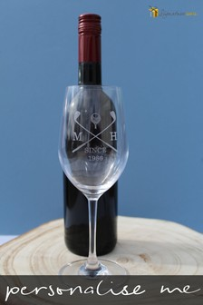 Personalised Wine And Glass Set by Signature Gifts