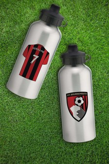 Personalised AFC Bournemouth Water Bottle by Personalised Football Gifts