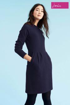 Joules Navy High Neck Jersey Dress