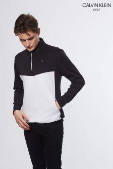 Calvin Klein Golf Black/White Power Half Zip Jumper