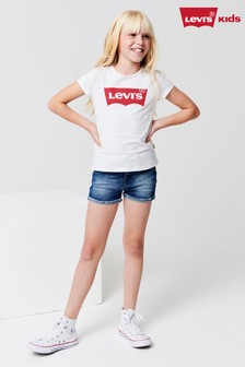 Levi's® Kids Mid Wash Denim Short