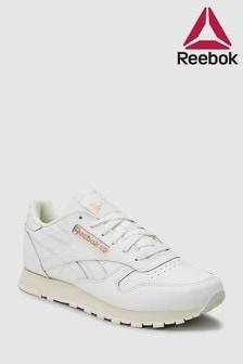 Белые классические кожаные кроссовки Reebok