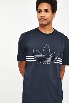 adidas Originals Navy Outline Trefoil T-Shirt