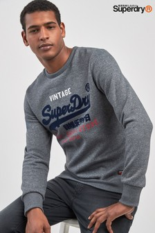 Superdry Grey Logo Sweatshirt