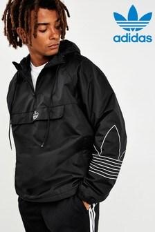adidas Originals Black Outline Over Head Jacket