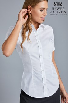 Hawes & Curtis Short Sleeve White Stretch Shirt