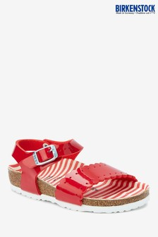 Birkenstock® Kids' Nautical Stripes Red Risa Patent Sandal