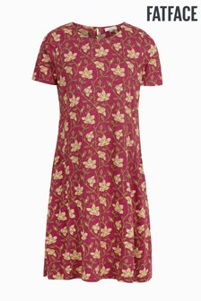 FatFace Red Simone Stitchwork Floral Dress
