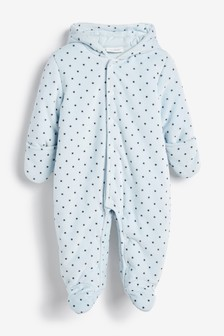 Velour Star Pramsuit (0-9mths)