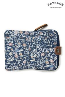 FatFace Navy Linear Garden Canvas Purse