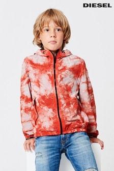 Diesel® Kids Orange J-Pinal Windbreaker Jacket