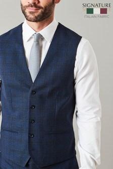 T G Di Fabio Signature Check Suit: Waistcoat