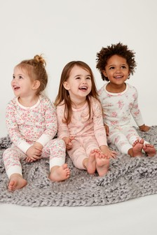 f0c203b21097 Ditsy Snuggle Pyjamas Three Pack (9mths-8yrs)