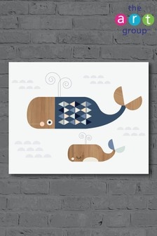 Whales by Little Design Haus Canvas