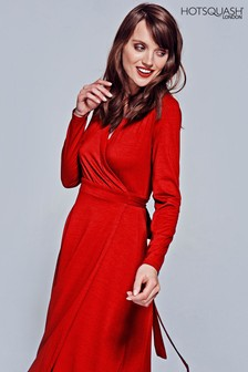 HotSquash Red The Wrap Dress