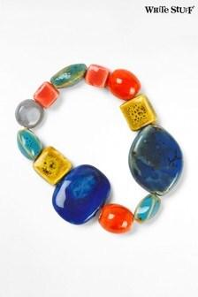 White Stuff Coral Multi Ceramic Bracelet